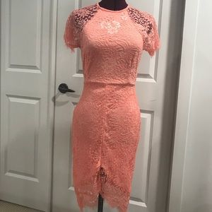 Dresses & Skirts - Coral  light lace dress